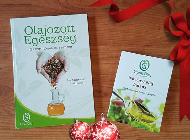 Olajozott egészség című könyv a hidegen sajtolt olajak felhasználásról és Növényi olaj kisokos a jótékony hatások gyűjteménye.